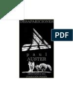 Auster Paul - Desapariciones (Poesia)