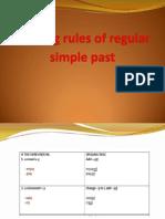 Spelling Rules of Regular Simple Past