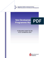 FORUM Discussion Paper New Developments in Programme Models 2007