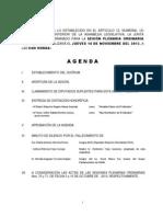 14 Noviembre Agenda