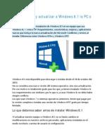 Como Instalar y Actualizar a Windows 8.1 La PC o Laptop