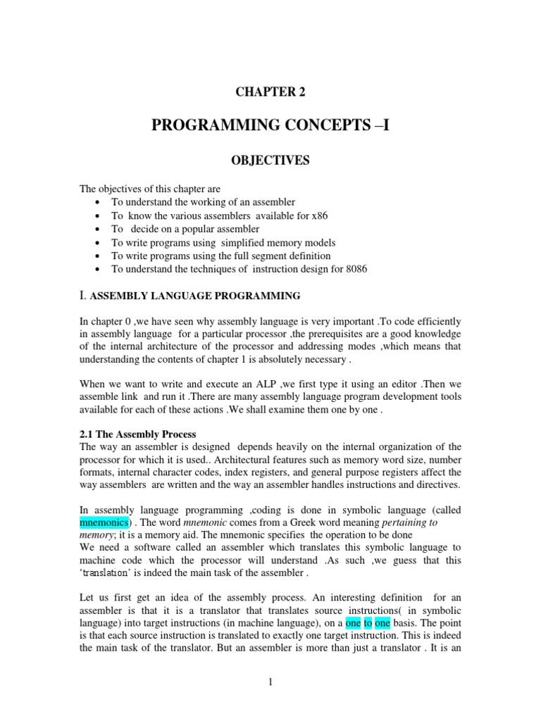 lyla b das 2 pdf assembly language instruction set rh scribd com intel x86 assembly reference manual intel x86 assembly reference manual