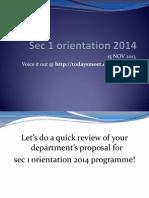 sec 1 orientation 2014 15 nov 2013