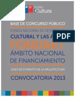 Arquitectura Fondart Nacional