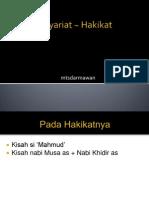 NTS_Syariat ~ Hakikat.ppt