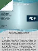 DIREITO EMPRESARIAL- ALIENAÇÃO FIDUCIÁRIA-slide
