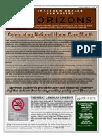 November 2013 news letter