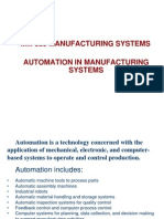 MM 323 MAN SYS 2012 FALL 4 Automation in Manufacturing Systems