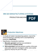 MM 323 MAN SYS 2012 FALL 5 Single Production Machines