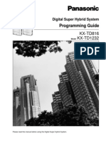 KX-TD 816 - 1232 Programming Guide Ver 6