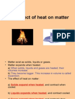 The Effect of Heat on Matter
