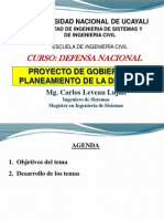 Semana 9 - Proyecto de Gobierno y Planeamiento de La Defensa