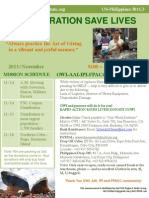 One World Institute - Nov. 13, 2013 Newsletter about Typhoon Haiyan (Yolanda) disaster relief efforts