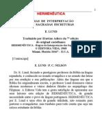 E. Lund - Hermenêutica