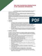 Comunicacion con pacientes pedriáticos en la unidad de cuidados intensivos (UCI)