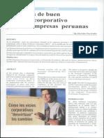 Principios de Buen Gobieno Corporativo Para Las Empresas Peruanas