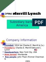 Subsidiary Bank of America