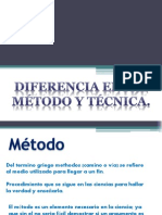 Diferencia Entre Metodo y Tecnica