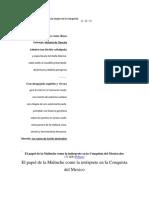 El papel de la Malinche como la intérprete en la Conquista del Mexico