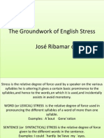 The Groundwork of English Stress 1