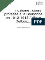 Delbos,Le Spinozisme, 1913