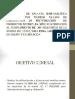 CALIFICACIÓN DE BALANZA SEMI-ANALÍTICA MARCA DENVER MODELO XS-2100