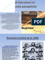 Rolul Literaturii in Perioada Pasoptista