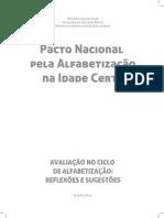 Caderno de avaliação no ciclo de alfabetização