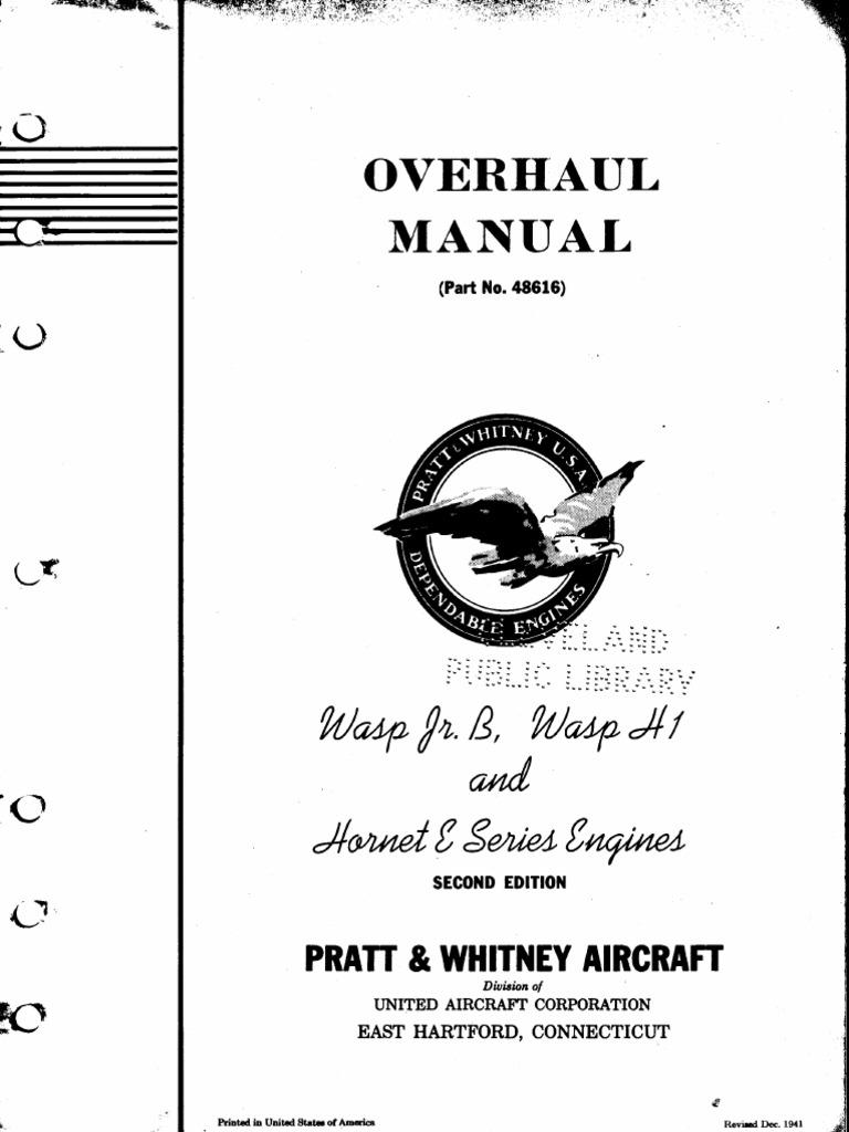 pratt whitney wasp manual pdf piston carburetor