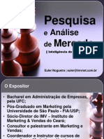 MARKETING - Pesquisa  e análise de mercado - Inteligência de Marketing