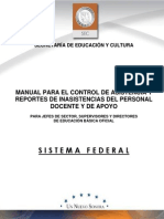 Manual Para El Control de Asistencia FEDERAL2013