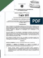 Decreto 2453 Del 7 de Noviembre de 2013