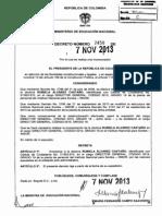 Decreto 2458 Del 07 de Noviembre de 2013