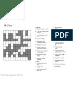 316 HO M-Class Crossword Puzzle WJB 10-01-01