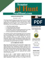 November Legislative Newsletter from Senator Neal Hunt