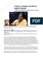 Sri Lanka Stop Smear Campaign and Threats Against Ms. Nimalka Fernando