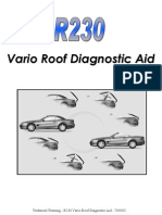 R230 Vario Roof Diagnostic Aid (MBK) 7-03-02