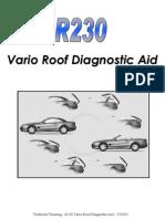 R230 Vario Roof Diagnostic Aid (MBK) 7-03-02