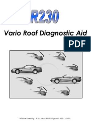R230 Vario Roof Diagnostic Aid (MBK) 7-03-02   Switch   Trunk (Car)