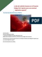 El desinterés por la vida del embrión humano en el Proyecto de Reforma del Código Civil.docx
