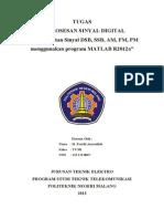SSB, DSB, AM, FM, PM Menggunakan software Matlab 2012