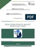 Ensayo 6 Propiedadindustrial Patentes Marcas Modelos