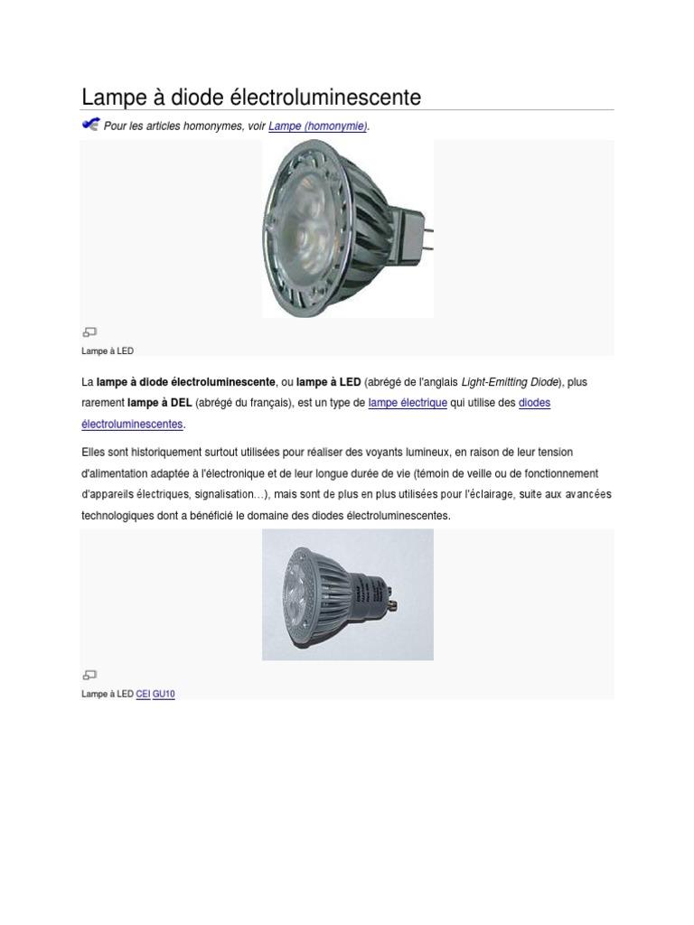 Diode Lampe À À Électroluminescente Diode docx docx Lampe Électroluminescente zUpMSV