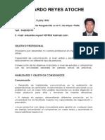 Curriculum Eduardo Reyes Atoche