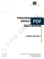 Programacion Didactica de Guitarra 10-11