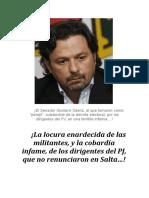 ¡La locura enardecida de las militantes, y la cobardía infame, de los dirigentes del PJ, que no renunciaron en Salta…!