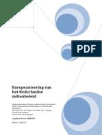 Europeanisering van het Nederlands Milieubeleid