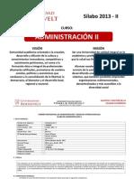 Silabo Administración II