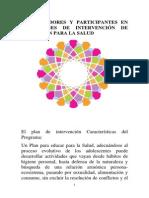 ORGANIZADORES DE PLANES DE EDUCACIÓN PARA LA SALUD