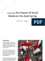 discuss the impact of social media on the